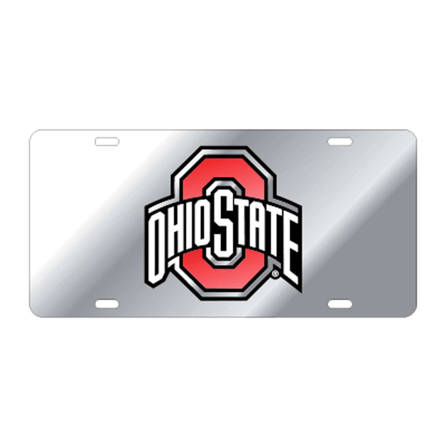 Ohio State Mirrored Athletic O License Plate