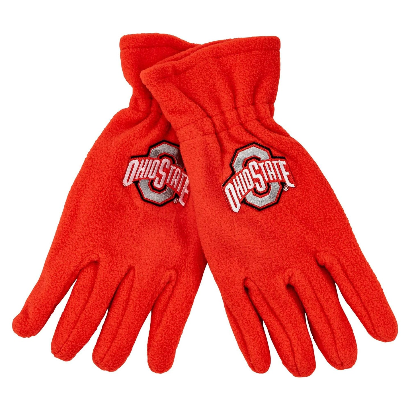 Ohio State Red Fleece Athletic O Gloves