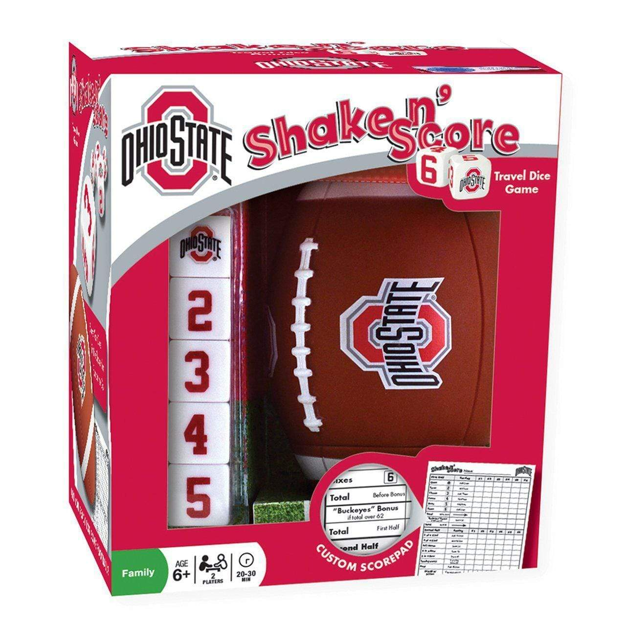 Ohio State Shake N Score Dice Game - Conrads College Gifts