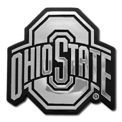 Ohio State Silver Athletic O Car Emblem - Conrads College Gifts