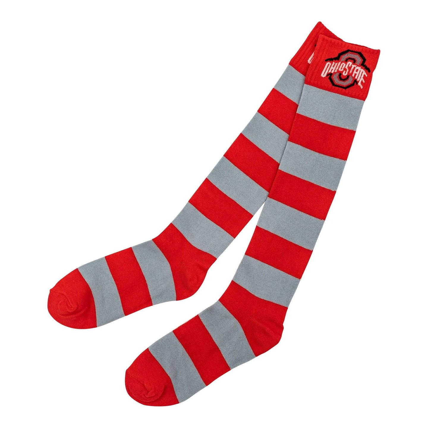 Ohio State Striped Knee High Socks