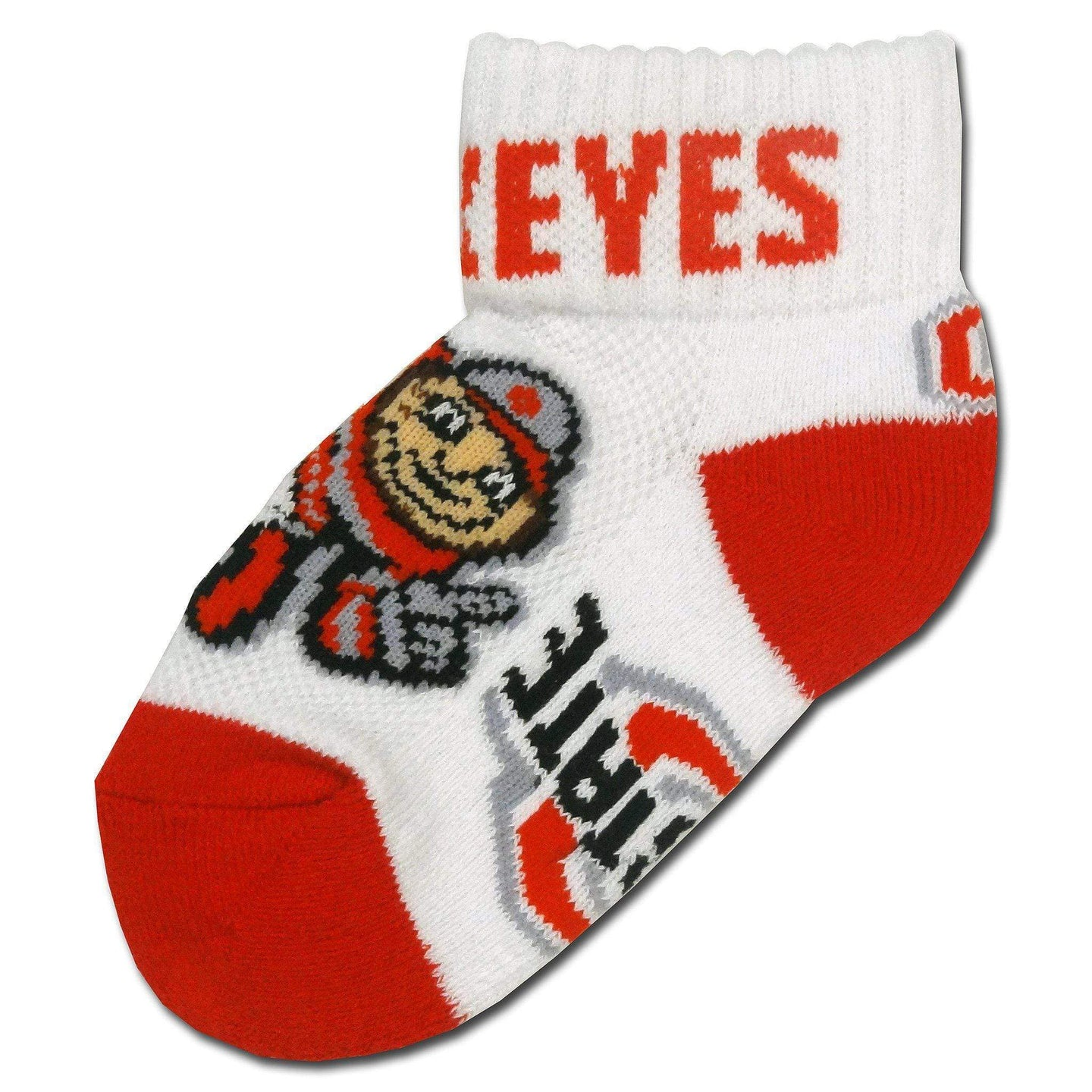 Ohio State Toddler Brutus Red Heel And Toe Socks - Conrads College Gifts