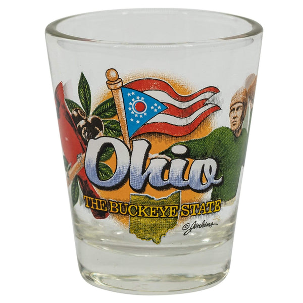 Ohio The Buckeye State Shot Glass