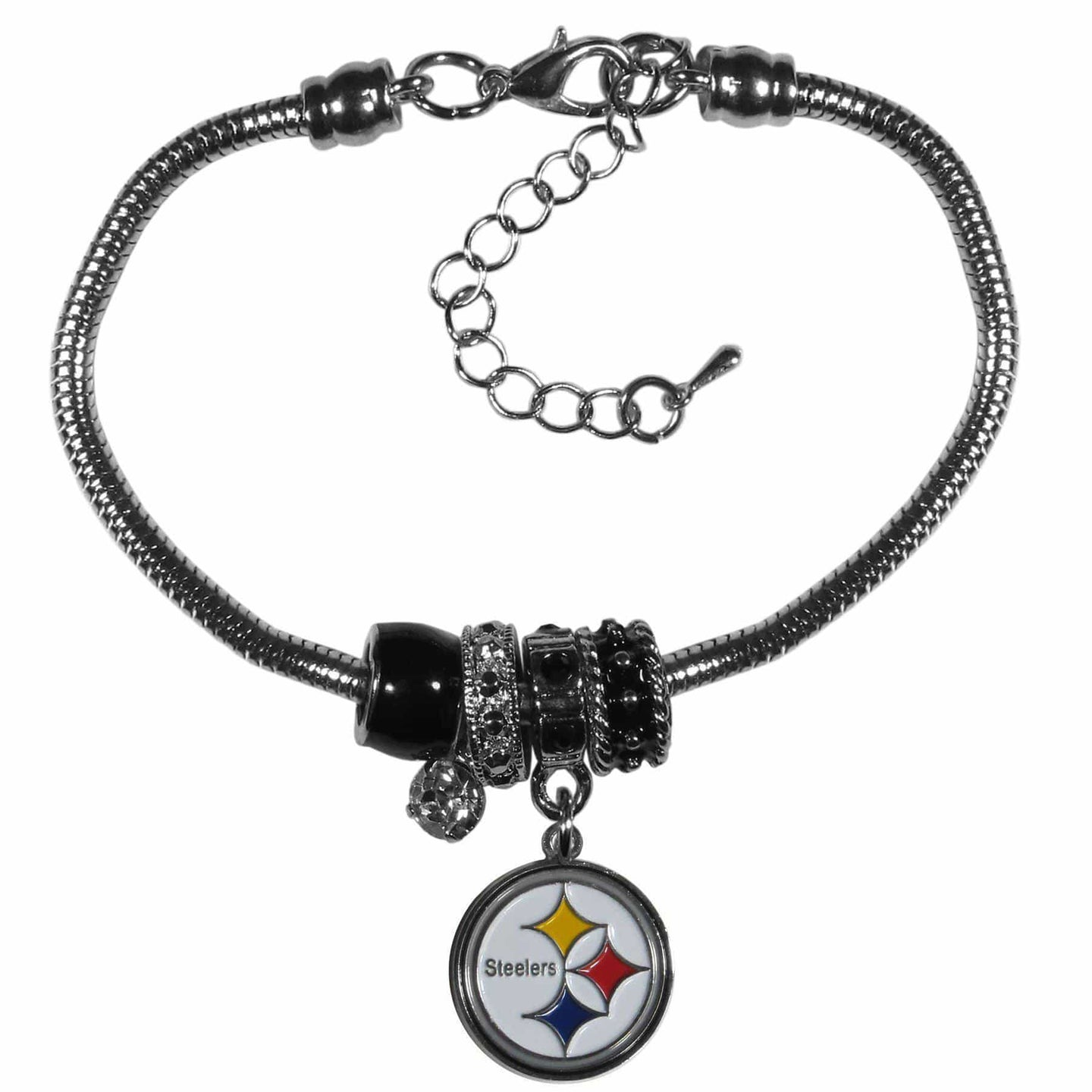 Pittsburgh Steelers Euro Bead Bracelet - Conrads College Gifts
