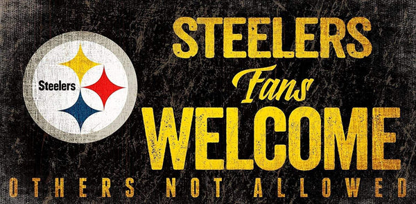 "Pittsburgh Steelers Welcome 6""x12"" Sign - Conrads College Gifts"