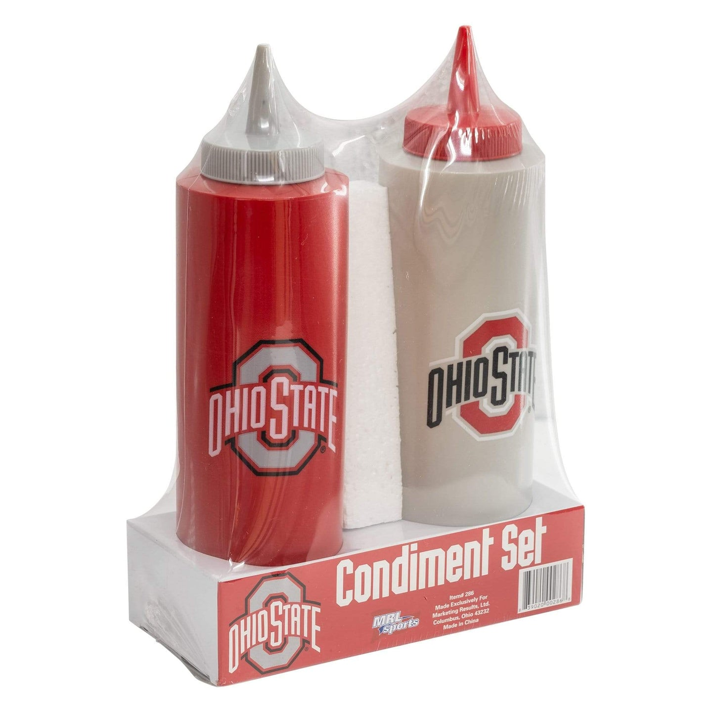 Ohio State Scarlet and Gray Condiment Set