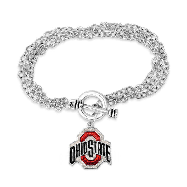 Triple Chain Athletic O Glitter Bracelet - Conrads College Gifts