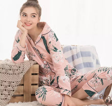 Load image into Gallery viewer, Nursing Print Pajama / Nightwear set