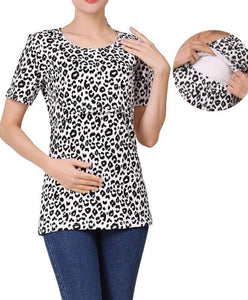 Leopard Print Breastfeeding Tee
