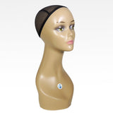 "18"" Female Life Size Mannequin Head for Wigs, Hats, Sunglasses and Jewelry Display"