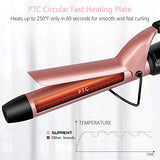 SUPRENT Curling Iron 1 inch with Ceramic Coating Barrel