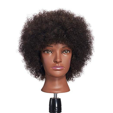 Kinky Curly Human Hair Training Mannequin Head