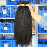 Brazilian Kinky Straight Extensions with 4x4 Lace Closure