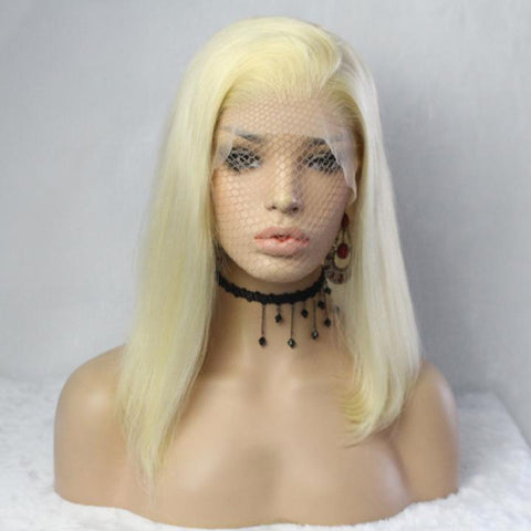 Blonde Brazilian 13x6 Lace Front Short Bob Wig (multiple colors available)