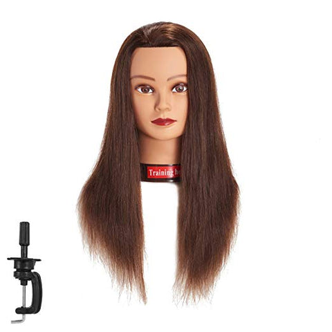 "20""-22"" Training Mannequin Head 100% Real Hair"