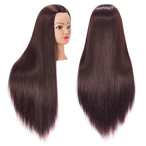 "26""-28"" Training Mannequin Head 100% Real Hair"