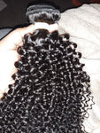 Malyasian Kinky Curly Extensions with Frontal