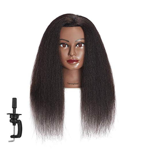 Training Mannequin Head 100% Real Hair