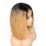 Charm Ombre Brazilian Straight Short Bob Lace Front Wig (multiple colors available)