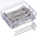 70 Pack Wig T-Pins 2 Inch with Plastic Box