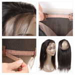 Peruvian Straight 360 Lace Frontal With Extensions