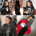 Brazilian Straight 360 Lace Frontal Wig