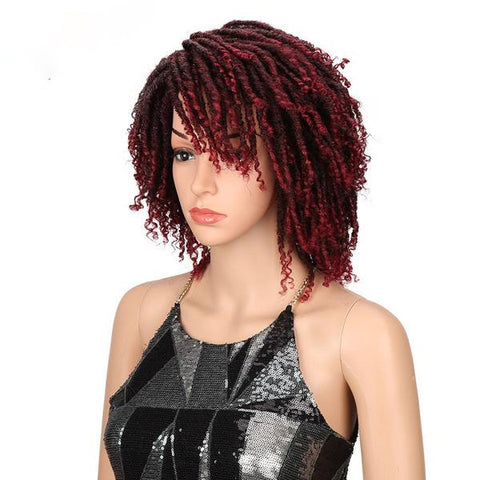 Curly Faux Locs Synthetic Wig