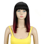 Ombre Bob with Bangs Synthetic Wig (multiple colors available)