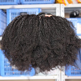 Mongolian Afro Kinky Curly Hair Extensions