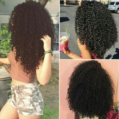 Mongolian Afro Kinky Curly Hair Bundles