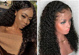 Peruvian Curly Glueless Lace Front Wig