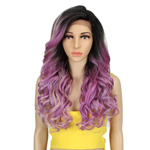 Ombre Purple Wave 22'' Synthetic Wig (multiple colors available)
