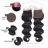 Brazilian Body Wave Lace Frontal or Lace Closure