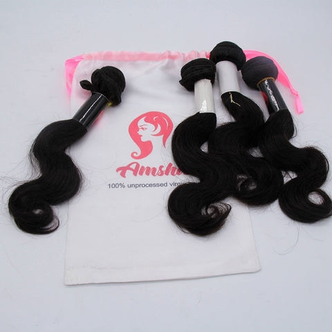 Customized Satin Drawstring Hair Packaging 100pc Minimum