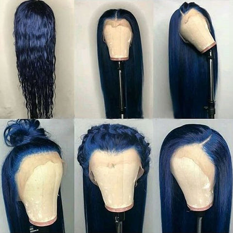 Blue Malaysian Glueless Full Lace Wig