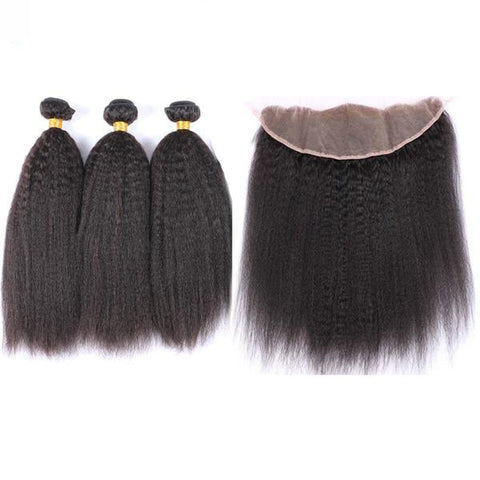 *NEW* Brazilian Kinky Straight Extensions with Frontal