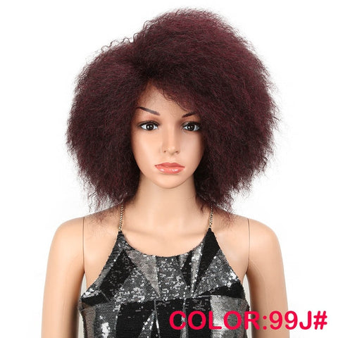 "8""Inch Synthetic Kinky Afro Wig"