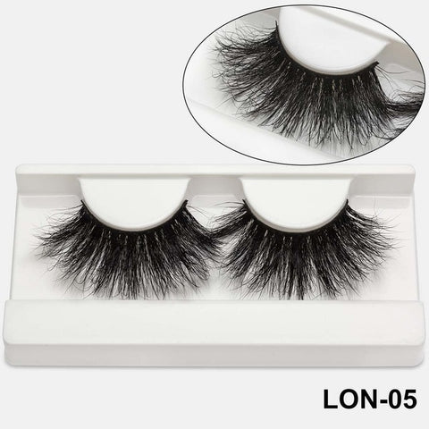 100% 25mm 5D Mink Eyelashes (20 Pairs)