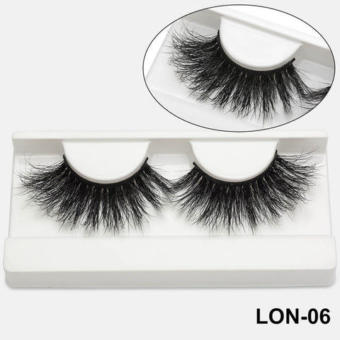 100% 25mm 5D Mink Eyelashes (50 Pairs)