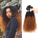 Brazilian Ombre 1B/30 Kinky Curly Extensions