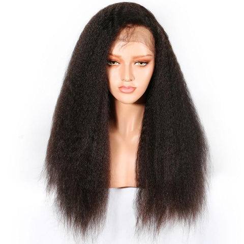 Queen 360 Brazilian Kinky Straight Lace Frontal Wig
