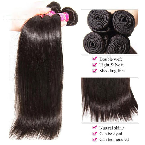 Malaysian Straight Hair (10 piece lot)