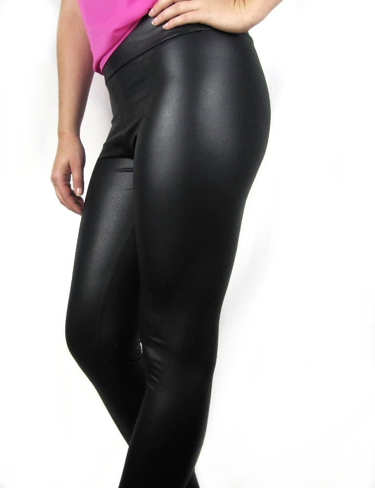 a054196dc6d973 High Waisted Faux Leather Leggings - Independence Boutique LLC