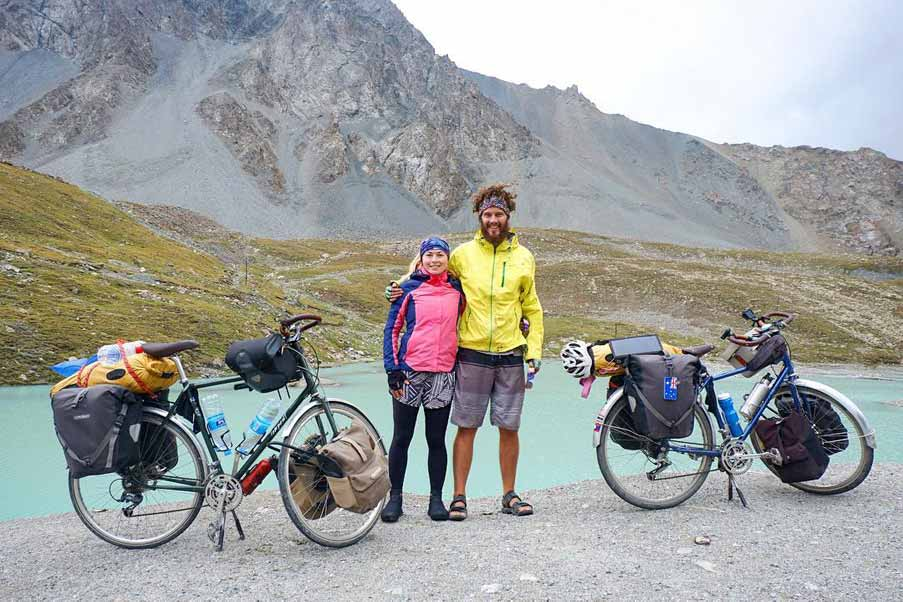 Bicycle touring couple John and Teagan from JTTouring