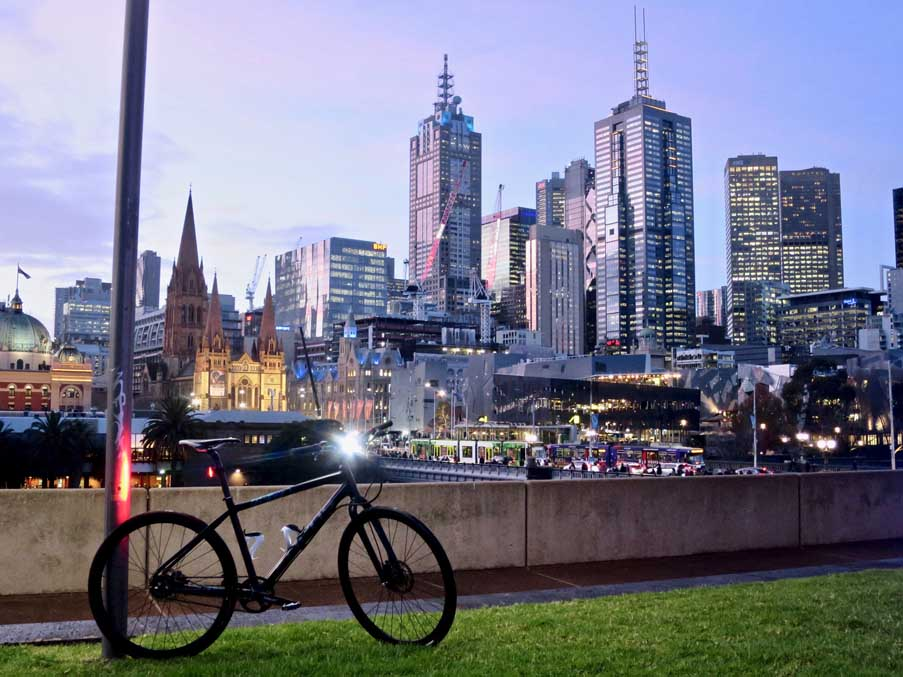A bike at Hamer Hall