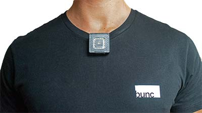 bunc Front Light attached to T-shirt