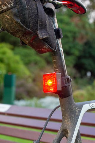 bunc 'be seen' Rear Light on the back of a Canyon bike