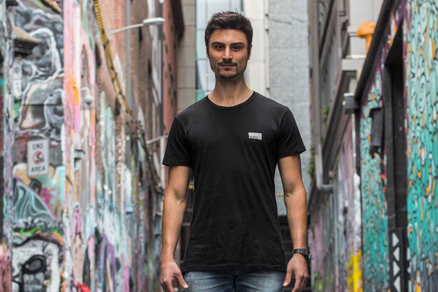 bunc founder, Daniel, in Hosier Lane