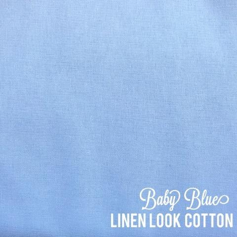 Baby Blue - Linen Look Cotton