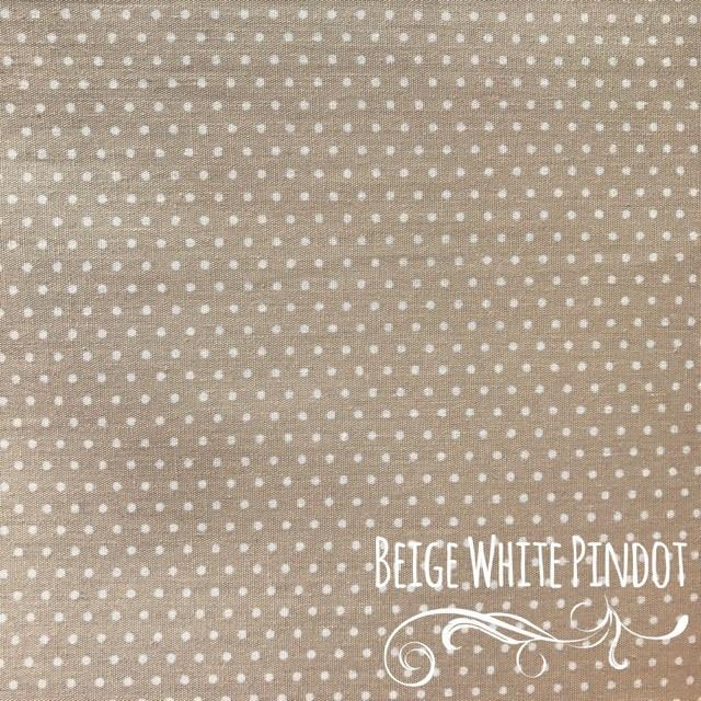Beige White Pin Dot